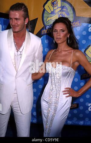 31. Mai 2003 - Hollywood, Kalifornien, US - I7683PR. MTV AWARDS IM SHRINE AUDITORIUM, CA.05/31/2003.  / / 2003.VICTORIA - Stockfoto