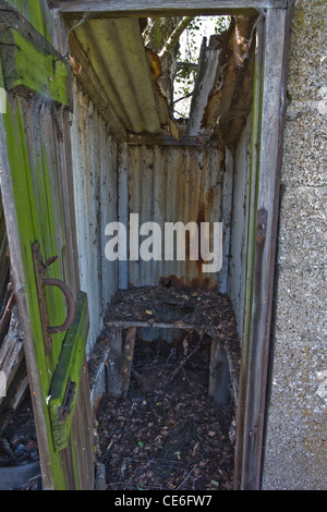 Das alte Außentoilette - Stockfoto
