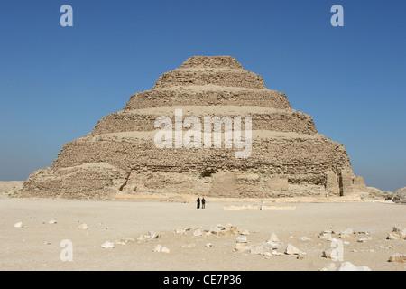 Sakkara die Stufenpyramide in Kairo, Ägypten - Stockfoto