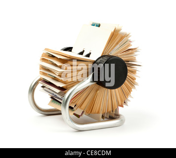 traditionelle Rolodex rotary-Datei Kartenhalter - Stockfoto