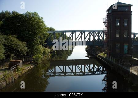 Barton-Brücke über den Manchester Ship Canal, Manchester - Stockfoto