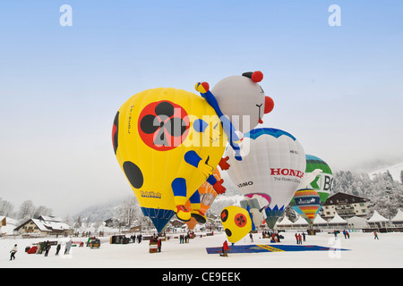 Luftballons International Festival, Chateau d ' Oex, Schweiz - Stockfoto