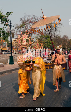 Elk208-1145v Thailand, Chiang Mai, Blumenfest, parade - Stockfoto