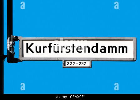 berlin kurf rstendamm stockfoto bild 4965307 alamy. Black Bedroom Furniture Sets. Home Design Ideas