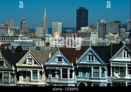 Painted Ladies am Alamo Square, San Francisco. - Stockfoto