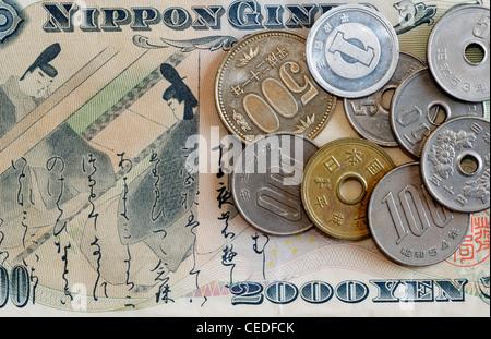 Japanische Yen Banknoten Währung Von Japan Stockfoto Bild