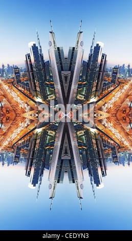 Die Innenstadt von Dubai abstrakt - Stockfoto