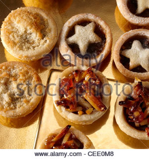 Auswahl Mini Mince pies - Stockfoto