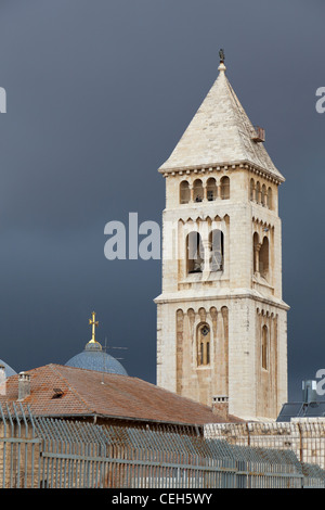 Ein Blick über die Dächer der Heiligen Stadt von Jerusalem, Israel - Stockfoto