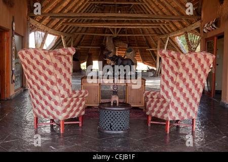 Innenraum der Lodge, Legenden Wildreservat, Limpopo Provinz - Stockfoto
