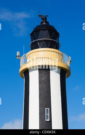 Start Point Leuchtturm auf der Insel Sanday auf den Orkney Inseln, Schottland. - Stockfoto