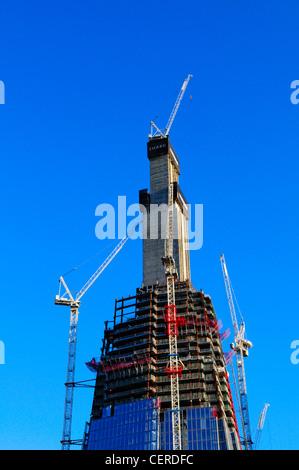 Konstruktion auf Shard London Bridge, auch bekannt als der Shard of Glass. Das Gebäude wird soll im Jahr 2012 und - Stockfoto