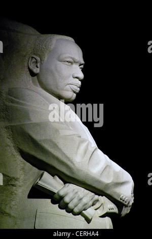 Nachtaufnahmen des Steins der Hoffnung eine Granitstatue von Martin Luther King Jr. Memorial von Meister chinesische - Stockfoto