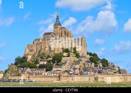 Mont Saint Michel Abtei, Normandie / Bretagne, Frankreich - Stockfoto