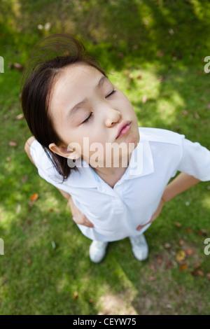 lustige kleine Mädchen - Stockfoto