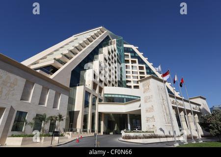 Ägyptische Themen Raffles-Hotel in Dubai, Vereinigte Arabische Emirate - Stockfoto