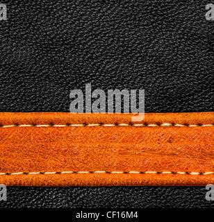 Eine braune und schwarze Leder-Textur. hohe Auflösung.
