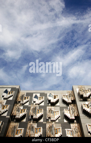 Architektonisches Detail vom schottischen Parlament Gebäude in Edinburgh. - Stockfoto