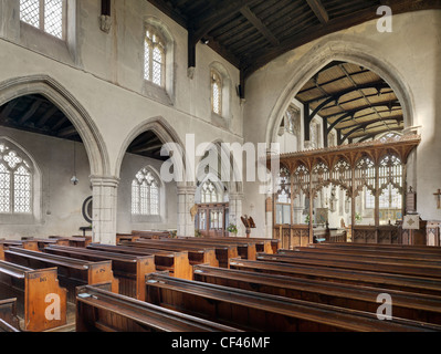 Das Innere der Finchingfield Kirche in Essex. - Stockfoto