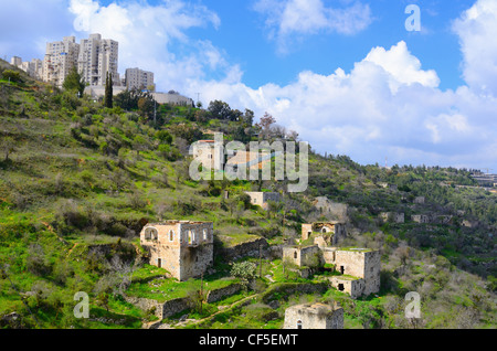 Lifta, Jeruslaem verlassenen Dorf. - Stockfoto