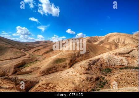 Wüstenlandschaft in der Nähe von Jerusalem, Israel. - Stockfoto