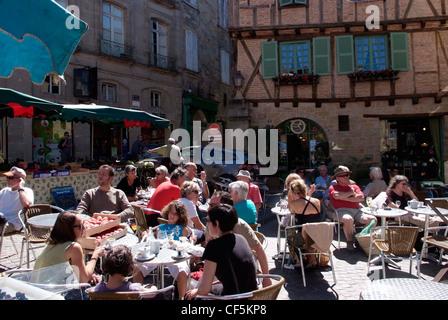 Frankreich Lot-Cele Figeac, Café Leben Foto von Glyn Genin - Stockfoto