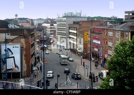 Einbahnverkehr System betrachtet von der Bullring Shopping Centre. - Stockfoto
