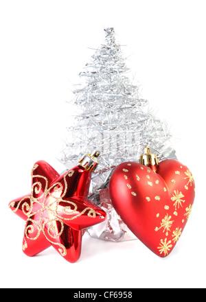 weihnachtsbaum aus gl nzenden silbernen noten auf. Black Bedroom Furniture Sets. Home Design Ideas
