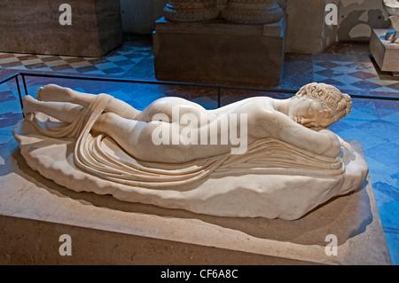 Tanzender Satyr Einladung auf den Tanz Roman 1 Cent AD-Kopie eines hellenistischen original 2d Cent BC Griechisch - Stockfoto