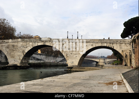 Ponte Cestio in Rom, Italien - Stockfoto