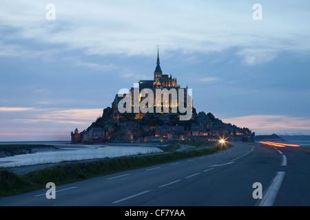 Europa, Frankreich, Normandie, Mont St. Michel, Mont St Michel, Mont-Saint-Michel, Straße, Straßen, UNESCO, UNESCO - Stockfoto
