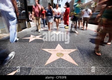 Walk of Fame, Hollywood Boulevard, Los Angeles, Kalifornien, USA - Stockfoto