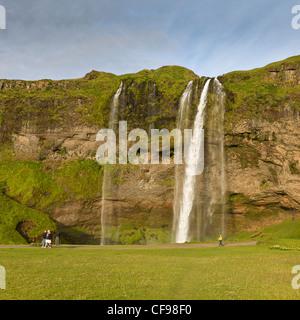 Wasserfall Seljalandsfoss, Island - Stockfoto