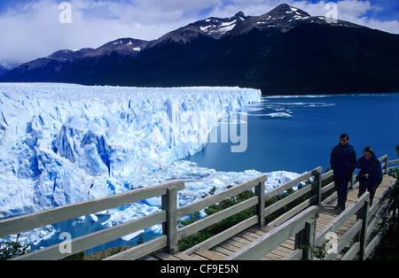 Perito Moreno Gletscher Los Glaciares Nationalpark, El Calafate, Provinz Patagonien Argentinien in Santa Cruz - Stockfoto