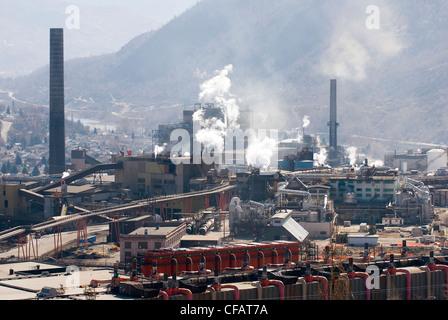 Kanadisches Bergbauunternehmen Teck und Cominco Kootenays, British Columbia, Kanada - Stockfoto