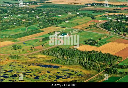 Antenne des Pownal, Prince Edward Island, Kanada. - Stockfoto