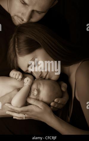 Eltern und baby - Stockfoto