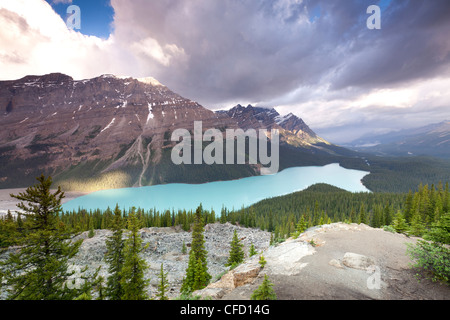 Peyto Lake, Banff Nationalpark, Alberta, Kanada - Stockfoto