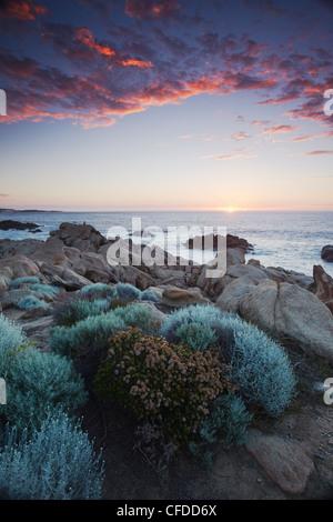 Kanal-Felsen bei Sonnenuntergang, Leeuwin Naturaliste Nationalpark, Yallingup, Margaret River, Western Australia, - Stockfoto