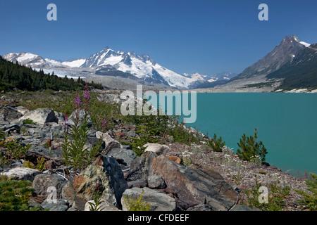 Trail zu Titcomb Becken, Wind River Range, Wyoming, Vereinigte Staaten von Amerika - Stockfoto