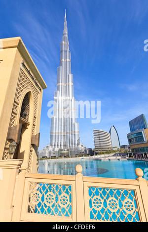 Burj Khalifa dem, menschgewordenen die höchste Struktur in der Welt und die Dubai Mall, Downtown Dubai, Dubai, Vereinigte - Stockfoto