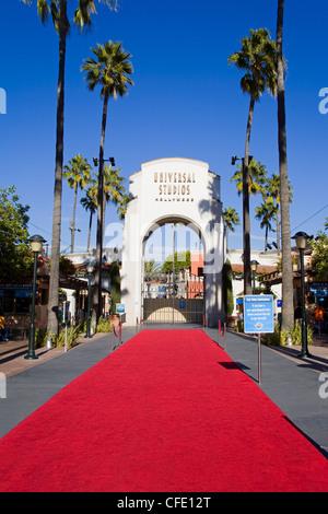 Eingang zu den Universal Studios Hollywood in Los Angeles, California, Vereinigte Staaten von Amerika - Stockfoto
