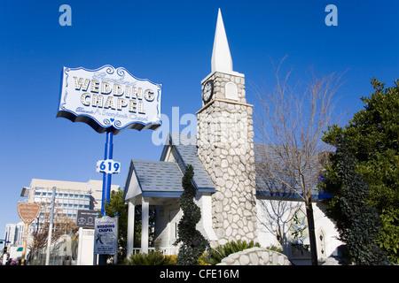 Graceland Wedding Chapel, Las Vegas, Nevada, Vereinigte Staaten von Amerika, - Stockfoto