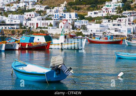 Weiße Häuser auf der Insel Mykonos, Kykladen, griechische Inseln, Griechenland, Europa - Stockfoto