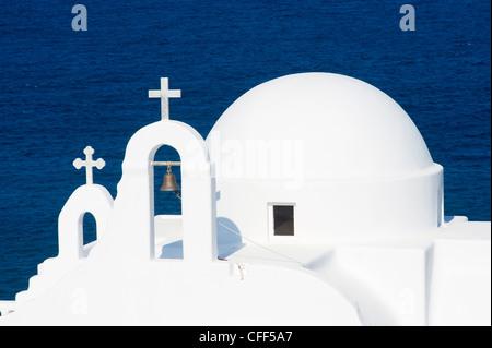 Kapelle Agios Sostis, Bucht von Panormos, Mykonos Island, Cyclades, griechische Inseln, Griechenland, Europa - Stockfoto