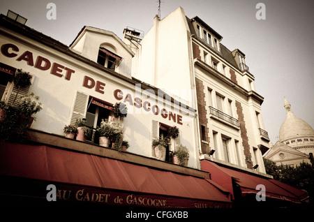Restaurant Cadet de Gascogne in Montmartre, Paris, Frankreich - Stockfoto