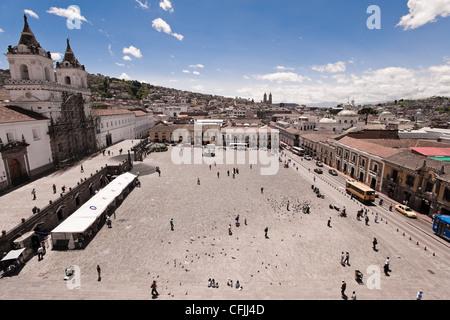 Plaza de San Francisco, Quito, Ecuador - Stockfoto