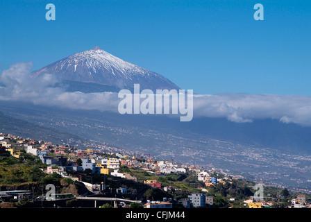 Orotava-Tal und Pico del Teide, Teneriffa, Kanarische Inseln, Spanien, Europa - Stockfoto