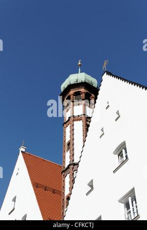 Turm der Kloster der Franziskaner in Augsburg, Bayern, Deutschland - Stockfoto