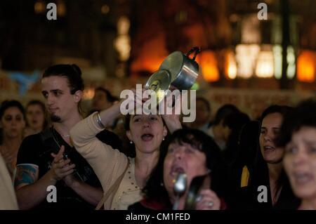 13. September 2012 - Buenos Aires, Buenos Aires, Argentinien - rund 50000 Menschen an einer '' Cacerolazo'' teilgenommen - Stockfoto